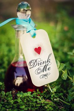 Drink Me Gift Tags Tea Party Favor Tag Alice by TheRedStarDesigns, $8.00