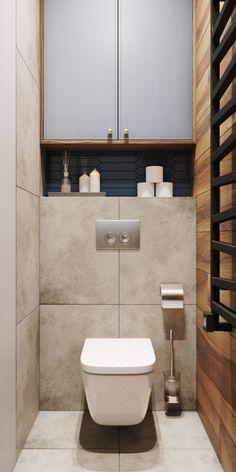 Washroom Design, Bathroom Design Small, Bathroom Interior Design, Wc Design, Toilet Design, Small Toilet Room, Powder Room Design, Bathroom Shelves, Beautiful Bathrooms