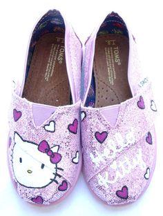 The Kitty - Hello Kitty Custom TOMS.  via Etsy.