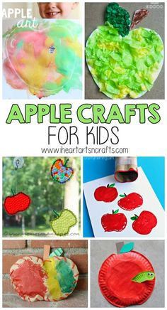 science experiments for preschoolers and 10 Creative Apple Crafts For Kids To Make that are perfect preschool activities for fall! science for preschoolers preschool activities preschool crafts kindergarten. Summer Crafts For Toddlers, Crafts For Kids To Make, Toddler Crafts, Art For Kids, Kids Crafts, Preschool Projects, Craft Activities For Kids, Projects For Kids, Craft Ideas