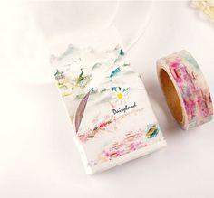 1Box New 1.5CM Wide Land of Pleasure Washi Tape DIY Scrapbooking Sticker Label Masking Tape School Office Supply H1471