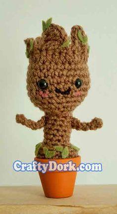 Baby Groot Amigurumi by pirateluv.deviantart.com on @deviantART