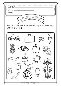 Blog com atividades escolares. Voltado para mães e professoras. Portuguese Lessons, Phonological Awareness, Letters And Numbers, Special Education, Bullying, Cool Kids, Notebook, Literacy, Alphabet