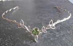 Gemstone jewelry Art Nouveau - Wedding Bridal Headpiece Circlet, Celtic Trinity Knot Diadem, Art Nouveau Circlet, Bridal Circlet Gemstone, Sterling Silver Forehead Jewelry... #Gemstonejewelry #ArtNouveau