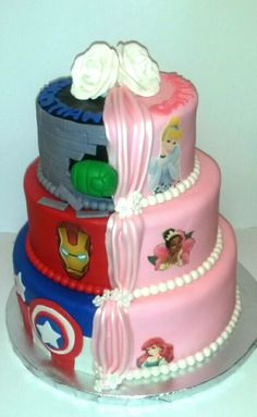 Split decision Avenger/Princess cake....