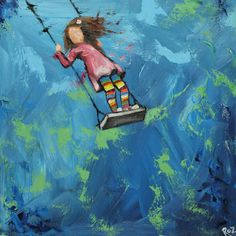 Print Swing 80 10x10 inch Print from oil painting by Roz by RozArt
