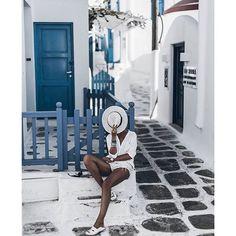 @mikutas in Mykonos wearing BANDITS © | Shop the link in our bio…