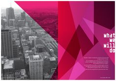 City of Melbourne rebrand designed by Landor – spread from the Council Plan 2009-2013