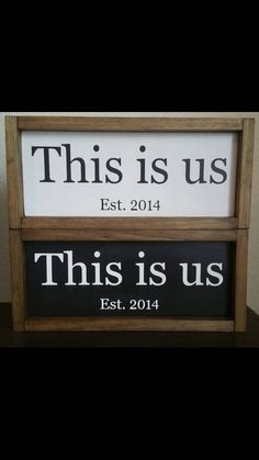 This Is Us Established Family Wood Sign Est. by ExpressionsOnSigns