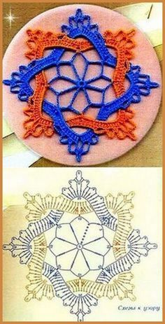 Tecendo Artes em Crochet: Flores - created on Frozen Lotus Decorative Free C - a grouped images picture - Pin Them All This Pin was discovered by Све crochet motifs, to join for a big bed cover or to make lacy curtains, or to use alone as coasters, do Crochet Flower Squares, Crochet Butterfly Pattern, Crochet Motif Patterns, Crochet Designs, Crochet Flowers, Crochet Art, Thread Crochet, Irish Crochet, Crochet Crafts