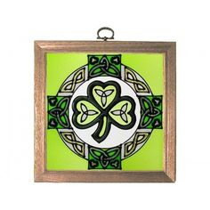10x14 CELTIC CROSS Irish Ireland Stained Art Glass Suncatcher