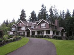 Craftsman Style Estate with Wrap-Around Porch -- Finally! A Craftsman style that is big enough for a family!
