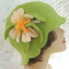 Vintage style scalloped flapper hat - digital sewing pattern from Kallie Designs