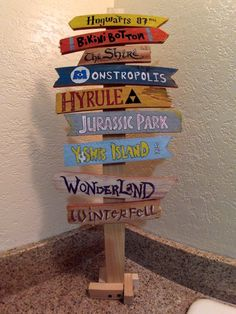Create Your Own Fandom Directional Sign For Home Or