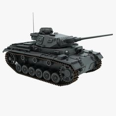 High detailed 3D model of Panzer III.Modeled in 3ds Max 2012.Final images rendered V-Ray material.