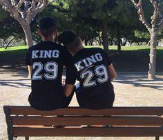 Tshirt Pack de 2 camisetas personalizadas para parejas KING &