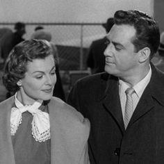 Barbara Hale/Della Street and Raymond Burr/Perry Mason