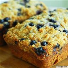Blueberry Zucchini Bread - Ready in 1 Hour 45 Minutes INGREDIENTS: 3 eggs, lightly beaten, 1 cup vegetable oil, 3 teaspoons vanilla extract, 2 1/4 cups white sugar, 2 cups shredded zucchini, 3 cups all-purpose flour, 1 teaspoon salt, 1 teaspoon baking powder, 1/4 teaspoon baking soda, 1 tablespoon ground cinnamon, 1 pint fresh blueberries, AllRecipesHub.com