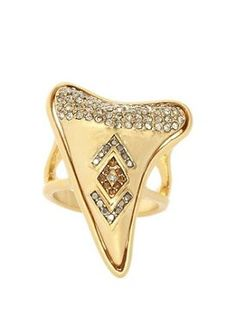 House of Harlow 1960 Jewelry Tribal Tooth Cocktail Ring