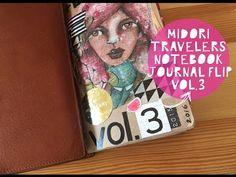 Midori Travelers Notebook Journal Flip! - YouTube