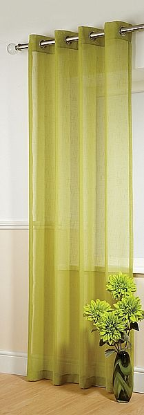 Boston Lime Voile Panels    Boston is a competitively priced, eyelet-headed, textured voile panel. Priced and sold as single panels.