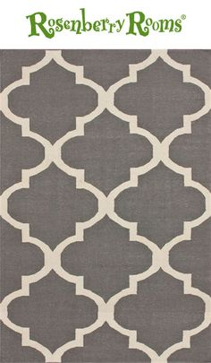 Add a pop of color and pattern to your little ones nursery or bedroom with the Large Trellis Rug in Gray!  We love the modern geometric design on this fun kids rug