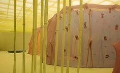 Installation by Ernesto Neto at Hayward Gallery. Image: Steve White.