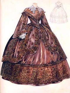 Krásné honosné šaty pro panenku Noru.
