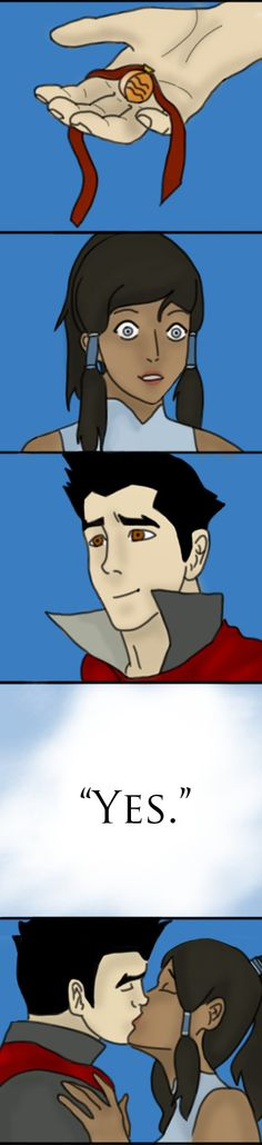 AWWWW!!!! Love how it's in the fire nation colors!!!! Makorra Week: Day 7 - Ever After by ~annatheginger on deviantART