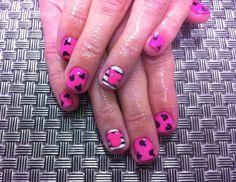 Pink Mickey Mouse Shellac Nail Art
