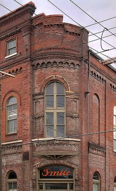 Soulard Neighborhood, in Saint Louis, Missouri, USA - Smile Soda building