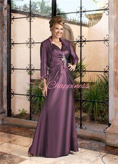 designer gowns mother of the bride dresses plus size long gowns taffeta 40002FL US $83.69