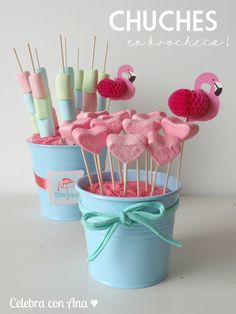 Centros con brochetas de chuches 90th Birthday Parties, Barbie Birthday, Birthday Desert, Sweet Trees, Chocolate Bouquet, Sweet 16 Parties, Candy Table, Candy Party, Decoration Table