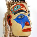 Nathan Wilson-Birch Portrait Mask Defend the Village Warrior Mask