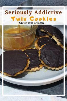 Vegan Twix Cookies (GF) • naturallysweetlife