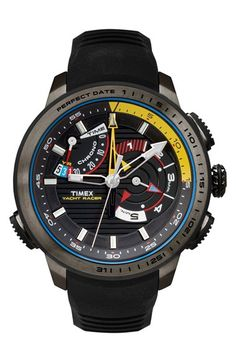 Timex® 'Intelligent Quartz - Yacht Racer' Silicone Strap Watch, 47mm available at #Nordstrom
