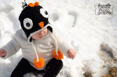 Penguin Hat by KissedbytheMoonB on Etsy