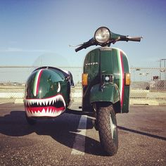 The sidecar looks like it could savage errant cyclists.