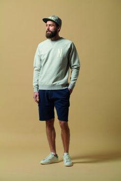 Navy shorts + Stan Smiths