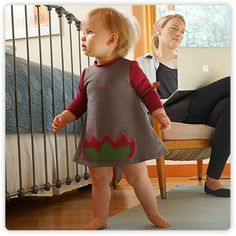 The gLotus toddler dress by gDiapers.