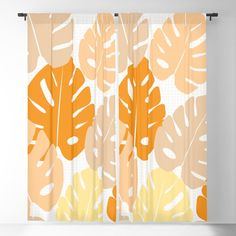 Summer leaves in happy colors Blackout Curtain Blackout Windows, Blackout Curtains, Happy Colors, Curtain Rods, Leaves, Throw Pillows, Cold, Summer, Toss Pillows