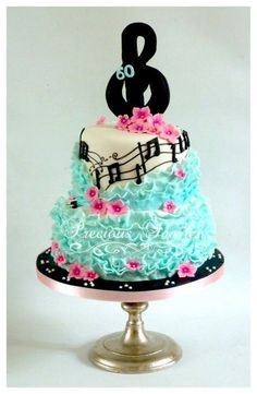 elise - Cake by Peggy ( Precious Taarten) Fancy Cakes, Cute Cakes, Pretty Cakes, Beautiful Cakes, Amazing Cakes, Music Themed Cakes, Music Cakes, Music Birthday Cakes, Theme Cakes
