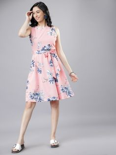 Women's Digital Printed Crepe Dress by Agestyle - Online shopping for Dresses on MyShopPrime - Party Wear Dresses, Dress Outfits, Casual Dresses, One Piece Dress Online, Western Dresses For Women, Buy Dresses Online, Types Of Dresses, Latest Dress, Flare Dress