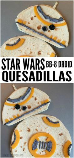 These Star Wars BB-8 Droid Quesadillas are delicious fun for the whole family! Click Now!