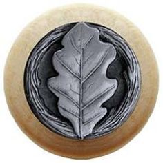 Notting Hill 1-1/2-in Pewter Leaves Round Cabinet Knob | home ...