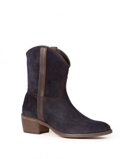 ANDALUXX Navy blue suede ankle boots