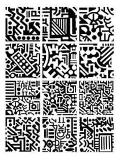 Circuits Unmounted Rubber Stamps- Would be perfect for polymer clay