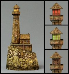 Haunted Lighthouse Free Building Paper Model Download - http://www.papercraftsquare.com/haunted-lighthouse-free-building-paper-model-download.html#BuildingPaperModel, #Lighthouse