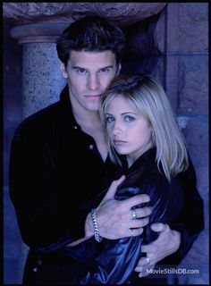 "Buffy the Vampire Slayer Cast: Sarah Michelle Gellar ""Buffy"" David Boreanaz ""Angel"" Spike Buffy, Buffy The Vampire Slayer, Vampire Art, David Boreanaz, Sarah Michelle Gellar, Marc Blucas, Charisma Carpenter, Michelle Trachtenberg, Joss Whedon"