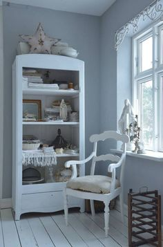 Paint a cabinet and remove the doors